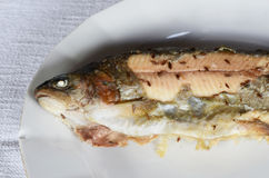 Baked trout Royalty Free Stock Images