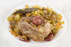 Baked turkey with cabbage Stock Image