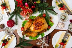 Baked turkey or chicken Stock Photography