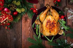 Baked turkey or chicken Royalty Free Stock Photo