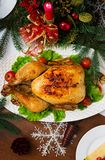 Baked turkey or chicken Stock Photos