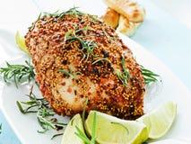 Baked turkey Stock Photography