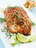 Baked turkey Stock Photo