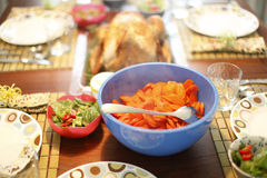 Baked turkey and sides Royalty Free Stock Images