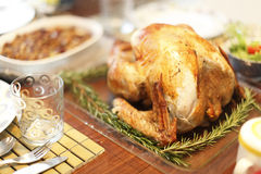 Baked turkey and sides Stock Photography