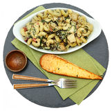 Baked Tuscan Chicken Pasta with Artichoke Stock Photo