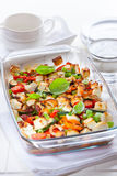 Baked vegetable with sheep cheese Stock Photo
