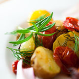 Baked vegetables Stock Images