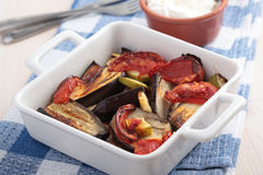 Baked vegetables Royalty Free Stock Images
