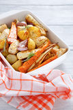 Baked vegetables in a bowl Stock Photo