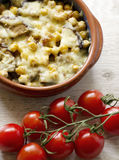 Baked vegetables with cheese Stock Image