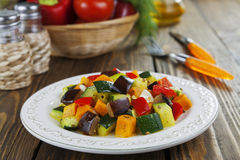 Baked vegetables Royalty Free Stock Photo