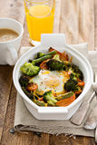 Baked vegetables with an egg on top Royalty Free Stock Photos