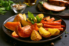 Baked vegetables in frying pan Royalty Free Stock Image