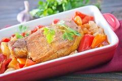 Baked vegetables Stock Image