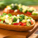 Baked Vegetarian Open Sandwich Royalty Free Stock Photo