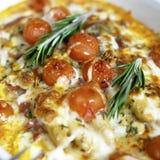 Baked white asparagus Stock Images