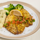 Baked white fish fillet Royalty Free Stock Image