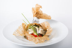 Baked white fish fillet Royalty Free Stock Images