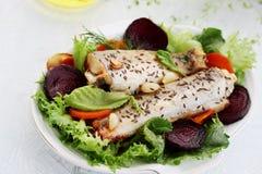 Baked white fish Stock Image