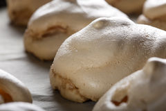 Baked white meringues Royalty Free Stock Photo