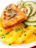 Baked whitefish with orange juice Royalty Free Stock Photo