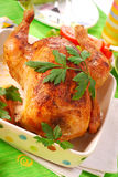 Baked whole chicken Royalty Free Stock Image