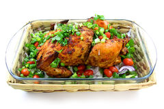 Baked whole chicken Royalty Free Stock Photography