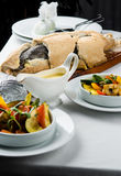 Baked whole fish Stock Photography