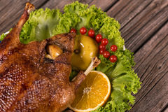 Baked young duck Stock Photography
