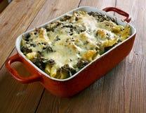 Baked ziti pasta Stock Photo