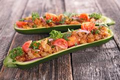 Baked zucchini Stock Photography