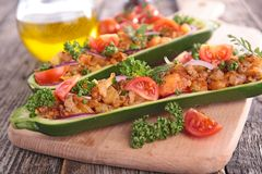 Baked zucchini Royalty Free Stock Images