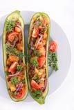 Baked zucchini Royalty Free Stock Image