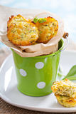 Baked zucchini muffins Royalty Free Stock Images