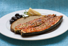 Baked zucchini with parmeggiano Royalty Free Stock Image