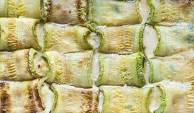 Baked zucchini rolls Royalty Free Stock Photo