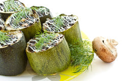 Baked zucchini stuffed with Royalty Free Stock Images
