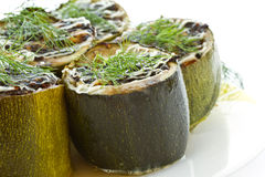Baked zucchini stuffed with Royalty Free Stock Photography