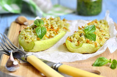Baked zucchini. Royalty Free Stock Images