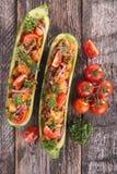Baked zucchini Royalty Free Stock Photos