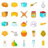 Bakehouse icons set, cartoon style. Bakehouse icons set. Cartoon set of 25 bakehouse vector icons for web isolated on white background vector illustration