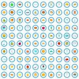 100 bakehouse icons set, cartoon style. 100 bakehouse icons set in cartoon style for any design vector illustration royalty free illustration