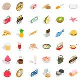 Bakehouse icons set, isometric style. Bakehouse icons set. Isometric style of 36 bakehouse vector icons for web isolated on white background royalty free illustration