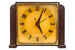 Bakelite art deco clock isolated on white Royalty Free Stock Images