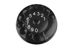 Bakelite Phone dial. Close up of Vintage bakelite phone dial on white Royalty Free Stock Photos