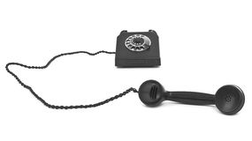 Bakelite telephone on white Stock Image