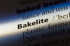 Bakelite. Word in a dictionary.  concept Stock Images