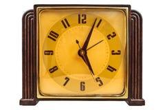 Bakelitowy art deco zegar odizolowywający na bielu Obrazy Royalty Free