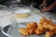 Bakelse är den thai frukosten Arkivbild